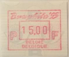 BELGIUM : 11 Vignets EUROPHILA 1995   1 To 10 + 15 BFR  MNH - Frankeervignetten