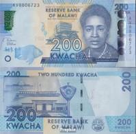 Malawi Pick-Nr: 60 (2019) Bankfrisch 2019 200 Kwacha - Malawi