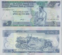 Äthiopien Pick-Nr: 47h Bankfrisch 2017 5 Birr - Aethiopien