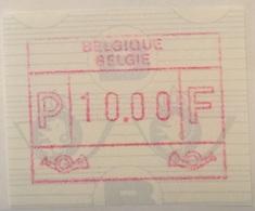 BELGIUM : 10 Vignets Standard Text BELGIQUE-BELGIE   1 To 10   MNH - Postage Labels