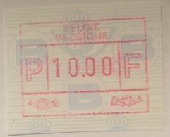 BELGIUM : 10 Vignets Standard Text BELGIE-BELGIQUE   1 To 10   MNH - Postage Labels