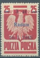 POLAND - MNH/** - 1945 -  OVERPRINTED RADOM -  Yv 439 Mi 390 VIII - Lot 21171 - 1944-.... République