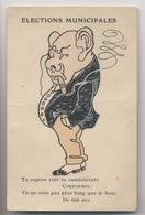 ÉLECTIONS MUNICIPALES - Caricature Gros Notable Au Cigare - Humour - Bourgeois Au Binocle - Politique - Satiriques