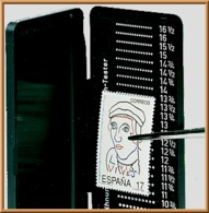 Lindner 2099 Phila-Combi-Box, Perforation Gauge - Stamps
