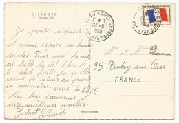 FM DRAPEAU CARTE DJIBOUTI 27.9.1969 TER AFARS ISSAS - Franchise Stamps