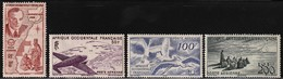 1947 French West Africa Air Post: Saint-Exupery, Aircrafts, Storks Set (** / MNH / UMM) - Airplanes