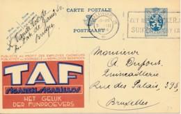 Publibel 24 – 1934 - Cigares TAF – Tabac - Postwaardestukken