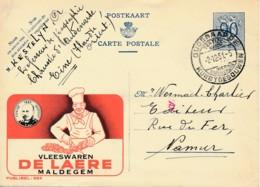 Publibel 984 – 1951 – Vleeswaren De Laere – Maldegem - Salami - Stamped Stationery