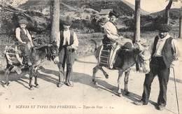 20-1288 : SCENES ET TYPES DES PYRENEES. ANES. EDITION LL. - Burros