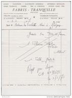 FACTURE 3 MARS 1973 FABRIS TRANQUILLE PÉRONNE - TV THOMSON PÉNÉLOPE RADIO FM TÉLÉVISION CAMÉRA - Francia