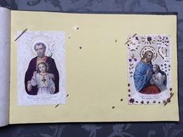 Vieil Album Fin 19èm? De 154 Images Religieuses Dentelle Canivet - Images Religieuses