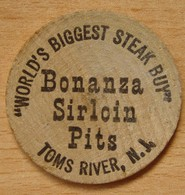 USA Bonanza Sirloin Pits  Wooden Nickel - Professionnels/De Société