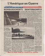 WW2 - L'Amérique En Guerre. N°90 Du 23/02/1944. Journal 4 P., Apporté Au Peuple Français Par L'Armée De L'Air Américaine - Historical Documents