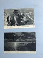 4 Cartes Postales:  La Pointe Du Raz (avec Correspondance, Dont 2 Sont Affranchies, 3 Du Début Du Siècle Dernier & Une - La Pointe Du Raz