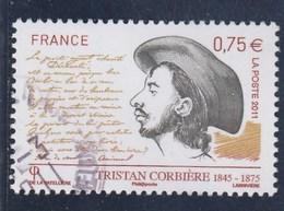FRANCE 2011 YT 4536 OBLITERE TRISTAN CORBIERE - - Oblitérés