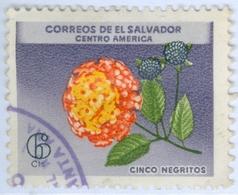 EL SALVADOR, FAUNA, FIORI, FLOWERS, 1965, 6 C., FRANCOBOLLO USATO  Mi:SV 889, Scott:SV 753, Sg:SV 1206 - Benin – Dahomey (1960-...)