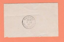CACHET MAISDON LOIRE INF-RE SUR CARTE LETTRE OBLITERATION LEGE A NANTES DE 1912 - Marcophilie (Lettres)