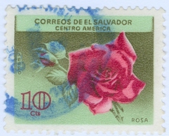 EL SALVADOR, POSTA AEREA, AIRMAIL, FAUNA, FIORI, FLOWERS, 1965, 10 C., USATO  (0,50) Mi:SV 893,Scott:SV C215, Sg:SV 1210 - Benin – Dahomey (1960-...)