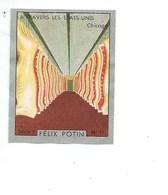 Chromo USA Chicago A Travers Les Etats Unis Pub: Felix Potin Ma Collection 1930s TB 52 X 40 Mm RARE 2 Scans - Félix Potin