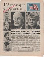 WW2 - L'Amérique En Guerre. N°82 29/12/1943. Journal De 4 P., Apporté Au Peuple Français Par L'Armée De L'Air Américaine - Historical Documents
