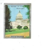 Chromo USA Washington A Travers Les Etats Unis Pub: Felix Potin Ma Collection 1930s TB 52 X 40 Mm RARE 2 Scans - Félix Potin