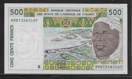 Sénégal - 500 Francs - Pick N°710Kj - SPL - Sénégal