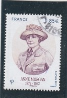 FRANCE 2017 ANNE MORGAN OBLITERE - YT 5123 - Frankreich