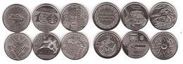 Ukraine Set 6 Coins 10 Hryven 2018 - 2019 UNC Lemberg-Zp - Ukraine