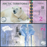 Arctic Territories 2 1/2 Dollars. 2013 Polymer Unc. Banknote Cat# P.NL - Banconote