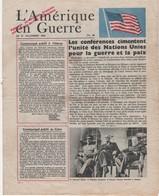 WW2 - L'Amérique En Guerre. N°80 15/12/1943. Journal De 4 P., Apporté Au Peuple Français Par L'Armée De L'Air Américaine - Documents Historiques