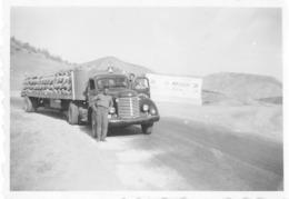 MAROC PHOTO ORIGINALE DE 1957 - CAMION AMÉRICAIN INTERNATIONAL HARVESTER SÉRIE K OU KB - Automobiles