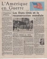 WW2 - L'Amérique En Guerre. N°24 29/12/1942. Journal De 4 P., Apporté Au Peuple Français Par L'Armée De L'Air Américaine - Documents Historiques