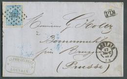 N°18 Obl. LP. 226 Sur Lettre De LOUVAIN Le 22 Sept. 1868 Vers La Prusse -  15046 - 1865-1866 Profile Left