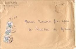 France 1973 - Lettre En Franchise Postale Du Tribunal De Montbéliard - Plaimbois Du Miroir - Taxée 0.90 C (3 X YTT 99) - Poststempel (Briefe)