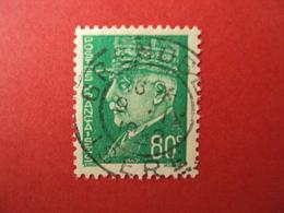 """1941-42- Oblitéré N°  513    -    PETAIN,     """" Type Hourriez""""    """" 80c Vert    """"         Net   1.5       Photo   2 - 1941-42 Pétain"""