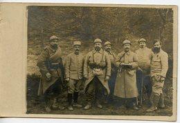 1816. CPA PHOTO GROUPE DE MILITAIRES 1916 CHIFFRES 8 ET 33 SUR LES COLS - Guerre 1914-18