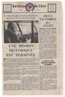 WW2 - Le Courrier De L'Air. N°4 De 1942. Journal De 4 Pages, Apporté Par Vos Amis De La RAF - Documents Historiques