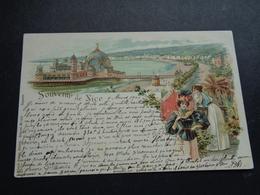 France ( 350 )  Frankrijk  :    Souvenir De Nice      Carl Künzli  Zürich - Nice