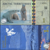 Arctic Territories 1 1/2 Dollars. 2014 Polymer Unc. Banknote Cat# P.NL - Banknotes