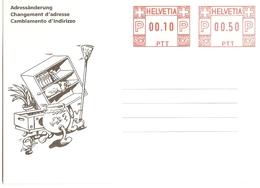 Suisse 1991 - Carte Neuve De Changement D'adresse - Adressäderung - Cambiamento D'indirizzo - PTT 212.06 (100 153) - Postwaardestukken