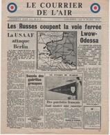 WW2 - Le Courrier De L'Air. Londres Le 8 Mars 1944. Journal De 4 Pages, Apporté Par La R.A.F. - Historical Documents