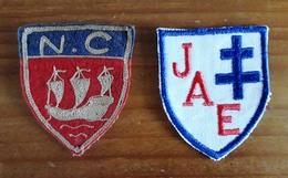 2 Ecussons Brodés Feutrine Tissu Sport Nicolaïte De Chaillot, Jeanne D'Arc D'Eaubonne - Ecussons Tissu