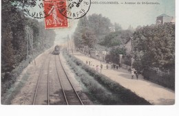 BOIS COLOMBES(GARE) TRAIN - Francia