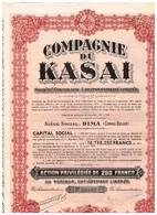 Ancienne Action Congolaise - Compagnie Du Kasaï - Société Congolaise à Responsabilité Limitée - Titre De 1934 - Landbouw