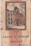 1937 / Petit Calendrier Caisse Epargne Belfort / Banque / 5 Illustrations - Calendriers