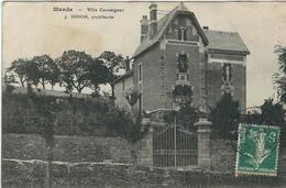 LOZERE : Mende, Villa Caussignac, J. Ignon, Architecte, Carte Peu Courante... - Mende