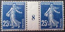 R1189/581 - 1908 - TYPE SEMEUSE CAMEE - LUXE - N°140 (IA) Mill.8 Bleu Très Foncé TIMBRES NEUFS** - Millésime
