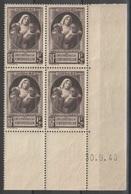 France - Coin Daté 30.09.40 - YT 465 ** MNH - Victimes De La Guerre - 1940-1949