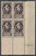 France - Coin Daté 07.10.40 - YT 465 ** MNH - Victimes De La Guerre - 1940-1949