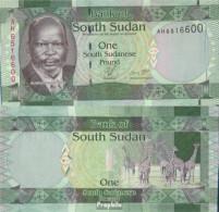 Süd-Sudan Pick-Nr: 5 Bankfrisch 2011 1 Pound - Sudan